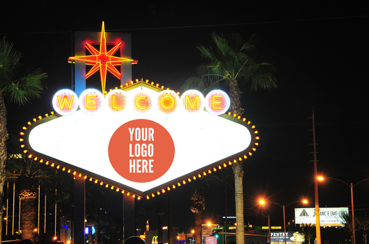 advertise your Logo on Welcome to Las Vegas Billboard