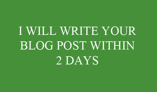 I will write a blog post of 300 words in any field or department