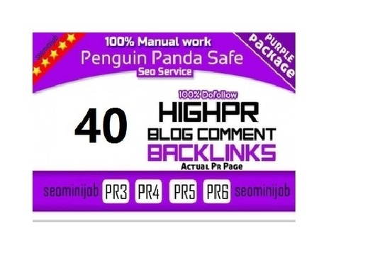 I will Create Manual DoFollow Blog Comment Actual Page Rank 3 Up To 6