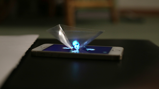 Image gallery iphone 5 hologram projector for Iphone 5 projector