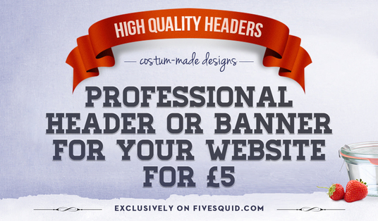 I will design a Professional HEADER or a Banner for your website or blog