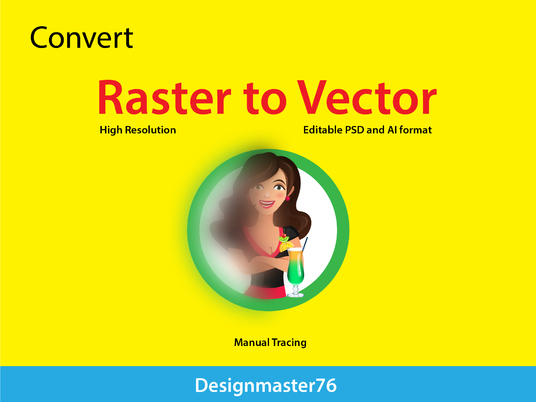 I will Covert your raster into vector