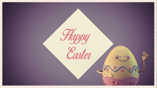 do TWO Easter Greetings video animation
