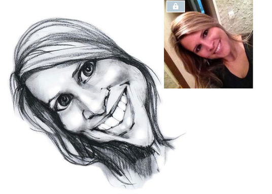 I will draw a funny caricature in pencil from photo as a Birthday gift or picture for social acco