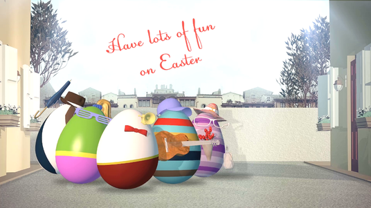 create TWO EASTER greetings video