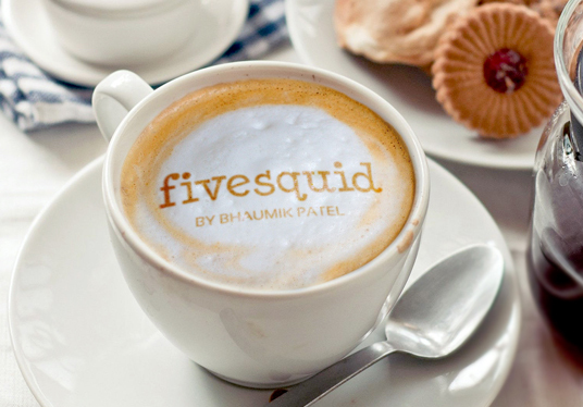 I will put your Text or Logo in coffee cup