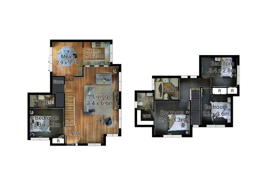Create floor plan drawing from matterport link for 5 for Turn floor plan into 3d model