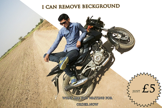 I will Remove background from 2 of your images