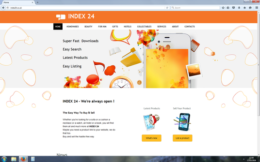 list your product or service within our rapid download, high resolution website - index24.co.uk