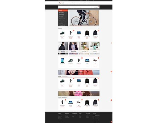 I will design this Shopping cart Responsive eCommerce Website