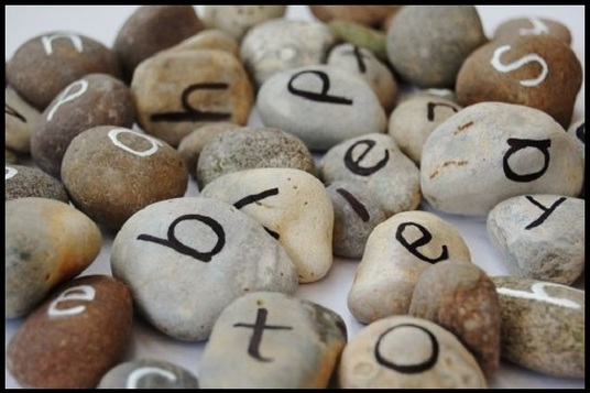 I will write your message using natural coloured stones to use as a gift or for promotions