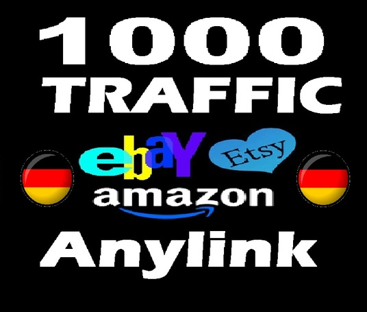 I will send 1000  country- TARGETED Amazon / Etsy / Ebay  human organic Traffic