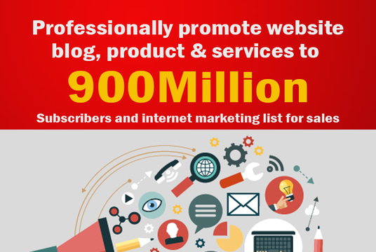 promote website, affiliate, product, services and anything to millions of people to get traffic