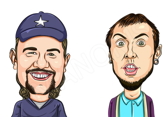 Draw Color Caricatures from Photos