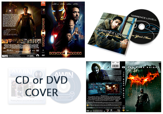I will design CD or DVD cover