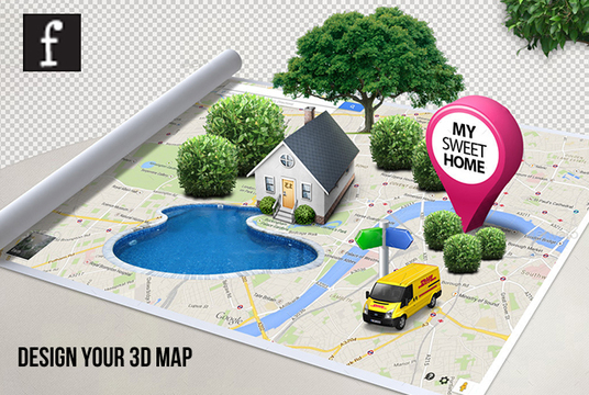 I will design custom 3D map for anykind of use