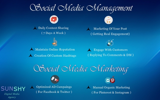 I will Manage and market social media accounts to increase visibility & engagement