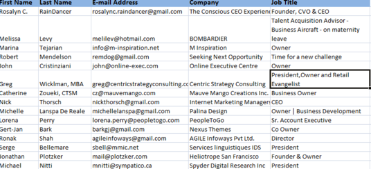 I will develop a database  of your customers using  your Linkedin profile
