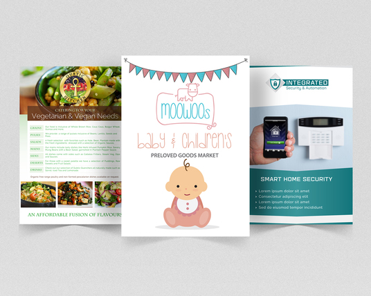 I will design PROFESSIONAL LEAFLETS OR FLYERS
