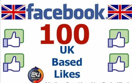 I will add 100 UK based Facebook Likes to your Facebook Page, Post, Photo, Website, URL