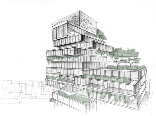 Provide Concept Architecture Buildings By Handmade Sketches For
