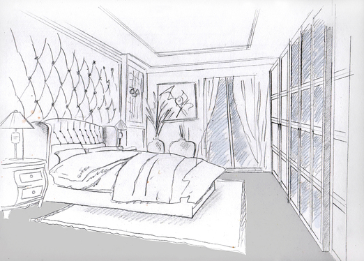 Sketch Your House Interior In Black And White Or Color For 5 Archstudio1 Fivesquid