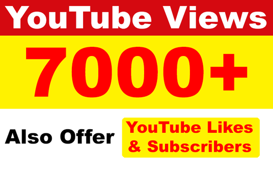 I will add 7000 High Retention Permanent YouTube Views