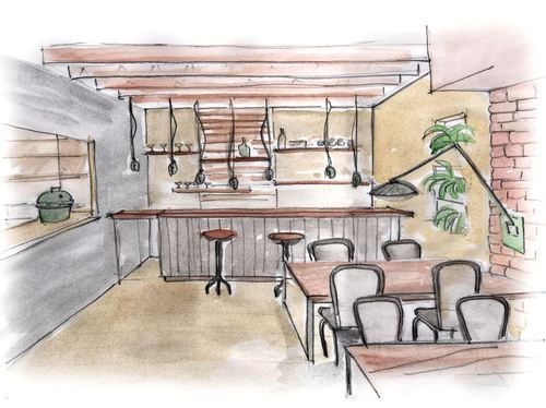 give you interior solution by conceptual sketches