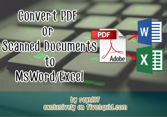 scanned documents convert to pdf photoshop text documents
