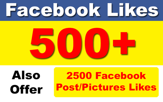 I will add 500 Permanent Facebook Page Likes