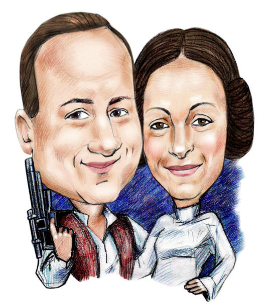 I will draw you  a personalized Star Wars caricature from photo as a Gift for your best friend