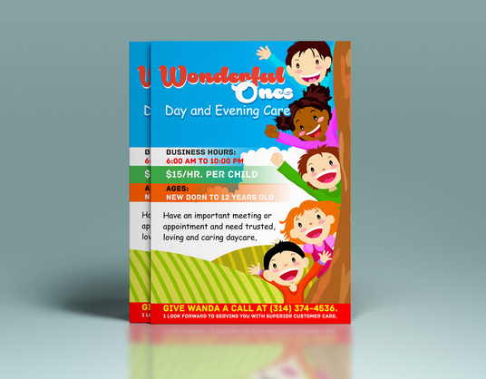 I will design flyers, brochures