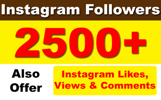 I will Add 2500 Instagram Followers, likes