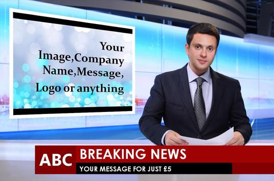 I will create a breaking news Image for your message,Image,Company Logo