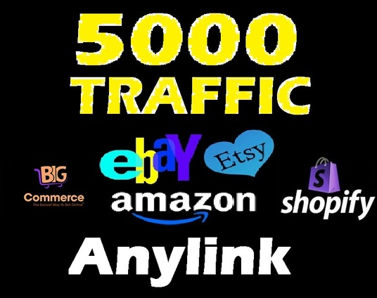 I will drive 5000 Visitors to any shop Ebay  Etsy   Amazon ecommerce human organic Traffic with p