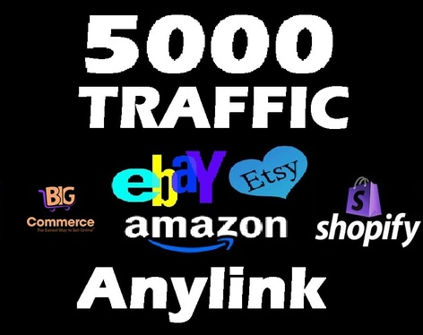 cccccc-drive 5000 Visitors to any shop Ebay  Etsy   Amazon ecommerce human organic Traffic with proof