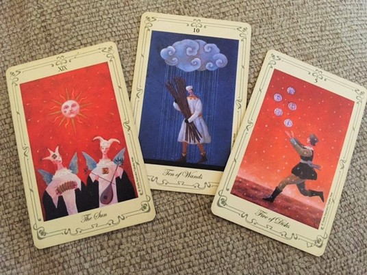 I will provide a 3-card in depth, intuitive no-nonsense email tarot reading on any topic except h