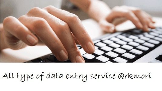 I will do data entry related tasks