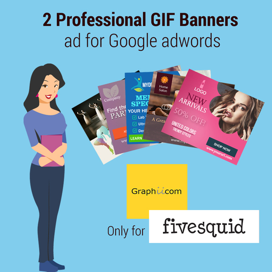 I will Create High quality GIF Banners for Google Ad