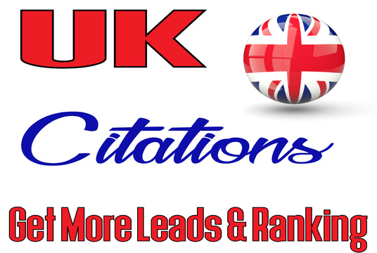 I will make 1,000 UK Citations for fast Local Ranking