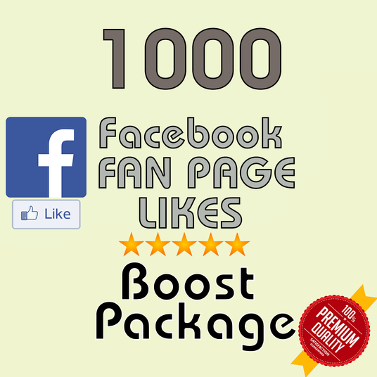 I will add permanent 1000 facebook fanpage  LIKES
