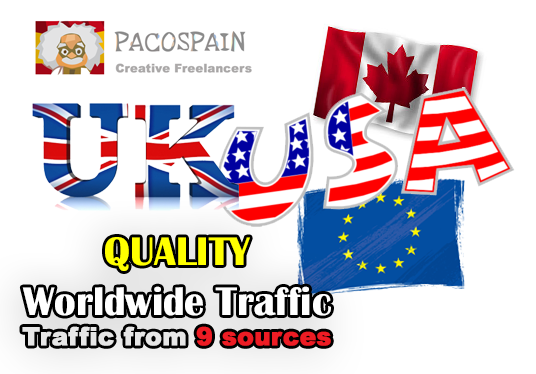 I will send you daily 4,500+ High Quality Worldwide traffic for 20 days from 9 sources