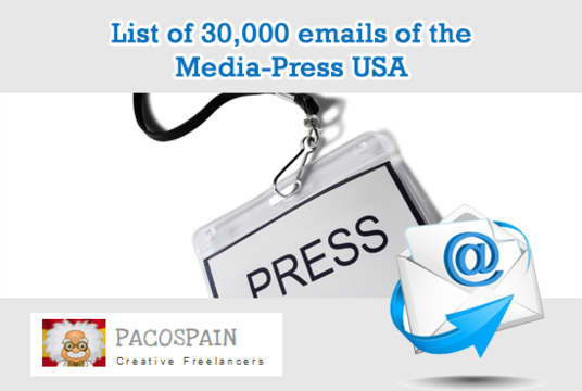 I will give you a list of 30,000 emails of the Media Press USA