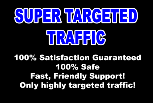 I will send Super TARGETED Traffic to your Site or Blog for 1 month