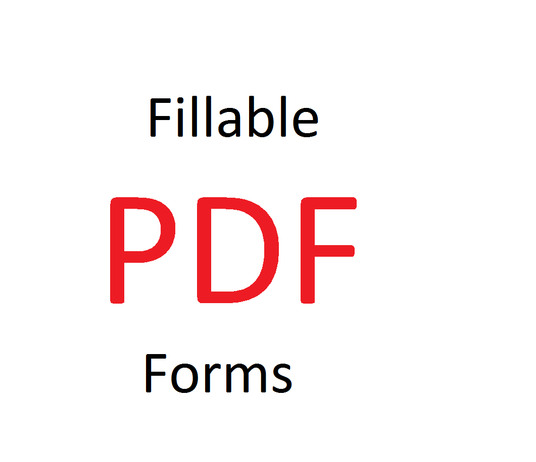 I will make a fillable pdf form