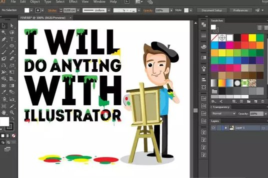 I will do anything with illustrator vectorize