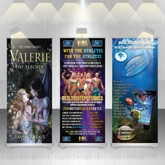 I will design awesome and professional roll up banner