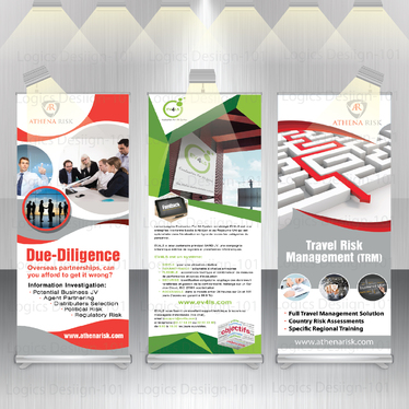 design awesome and professional roll up banner