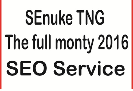 I will Get SEnuke TNG The full monty 2016