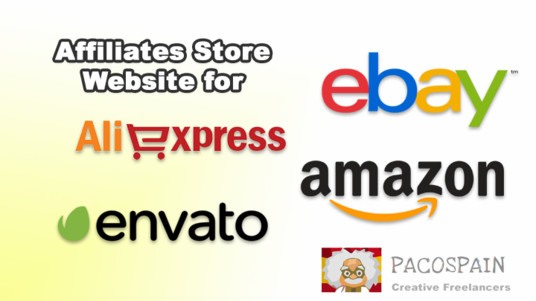 I will make an Affiliates Store Website for Amazon eBay Aliexpress and Evento Market